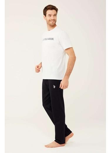 U.S. Polo Assn. Erkek Beyaz Yuvarlak Yaka T-Shirt Beyaz